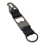 Fox Racing Double Threat Keychain Silver