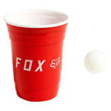 Fox Racing Double Wall Plastic Cup with Ping Pong Ball Red/White