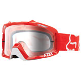 Fox Racing Air Defence Goggle Red Frame/Clear Lens