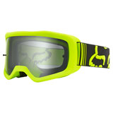 Fox Racing Main II X Goggle Fluorescent Yellow Frame/Dual Clear Lexan Lens