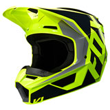 Fox Racing Youth V1 Prix Helmet Black/Yellow