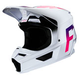 Fox Racing V1 Werd Helmet White