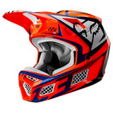 Fox Racing V3 Idol Helmet Orange/Blue