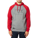 Fox Racing Shield Hooded Sweatshirt Heather Graphite
