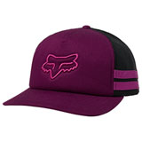 Fox Racing Women's Head Trik Snapback Trucker Hat Dark Purple