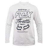 Fox Racing Throttled Long Sleeve T-Shirt Optic White