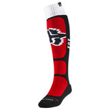 Fox Racing Coolmax Vlar Thin Socks Flame Red