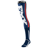 Fox Racing Linc Knee Brace Socks Navy/Red