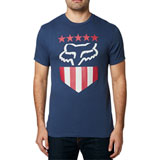 Fox Racing Freedom Shield T-Shirt Light Indigo