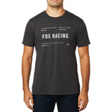 Fox Racing Standard Issue Premium T-Shirt Black Vintage