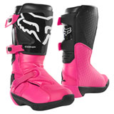 Fox Racing Youth Comp Boots Black/Pink