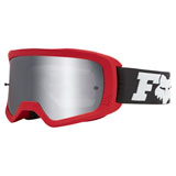Fox Racing Youth Main II Line Goggle Flame Red Frame/Spark Chrome Mirror Lens