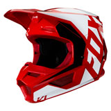 Fox Racing Youth V1 Prix Helmet Flame Red