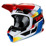 Fox Racing Youth V1 Yorr Helmet Blue/Red