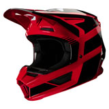 Fox Racing Youth V2 Hayl Helmet Flame Red