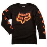 Fox Racing Youth Flame Head Long Sleeve T-Shirt