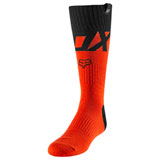 Fox Racing Youth MX Fyce Socks Fluorescent Orange