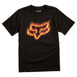 Fox Racing Youth Flame Head T-Shirt Black/Orange
