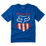 Fox Racing Youth Freedom Shield T-Shirt Royal Blue