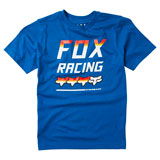 Fox Racing Youth Full Count T-Shirt Royal Blue