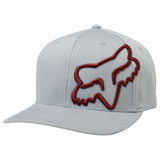 Fox Racing Clouded Flex Fit Hat 19 Grey/Red