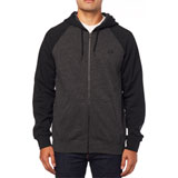 Fox Racing Legacy Zip-Up Hooded Sweatshirt Black/Charcoal