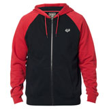 Fox Racing Legacy Zip-Up Hooded Sweatshirt Black/Red