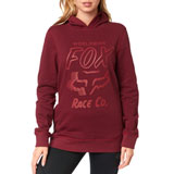 Fox Racing Women's Worldwide Hooded Sweatshirt Cranberry