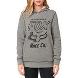 Fox Racing Women's Worldwide Hooded Sweatshirt Heather Graphite