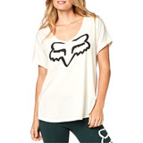Fox Racing Women's Responded V-Neck T-Shirt Bone