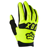 Fox Racing Youth Dirtpaw Gloves Flo Yellow