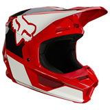 Fox Racing Youth V1 Revn Helmet Flame Red