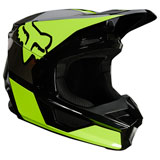 Fox Racing Youth V1 Revn Helmet Flo Yellow