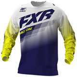 FXR Racing Clutch Jersey White/Navy/Yellow
