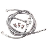 Galfer Front Steel Braided Brake Line Silver