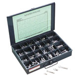 Gardner-Westcott Chrome Allen Bolt Assortment Fine Thread
