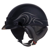 GMax GM35 Fully Dressed Helmet Derk Flat Black