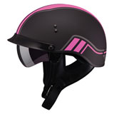 GMax GM65 Full Dressed Twin Half Helmet Flat Black/Pink
