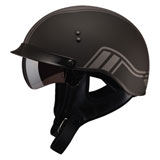 GMax GM65 Full Dressed Twin Half Helmet Flat Black/Silver