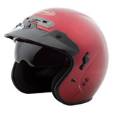 GMax GM32 Open Face Helmet Candy Red