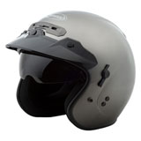GMax GM32 Open Face Helmet Titanium