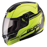 GMax MD04 Graphic Modular Helmet Hi-Viz Yellow/Black