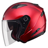 GMax OF77 Open Face Helmet Candy Red