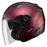 GMax OF77 Open Face Helmet Wine