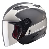 GMax OF77 Classic Open Face Helmet Flat Black/Dark Silver