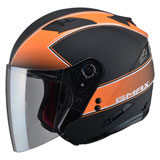 GMax OF77 Classic Open Face Helmet Flat Black/Orange