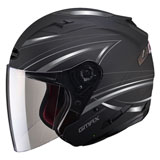 GMax OF77 Derk Open Face Helmet Flat Black/Silver