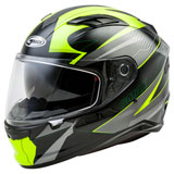 GMax FF98 Apex Helmet Black/Hi-Viz Yellow
