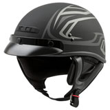 GMax GM35 Fully Dressed Derk Helmet Matte Black/Silver