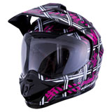 GMax GM11D Pink Ribbon Riders Helmet Black/Pink